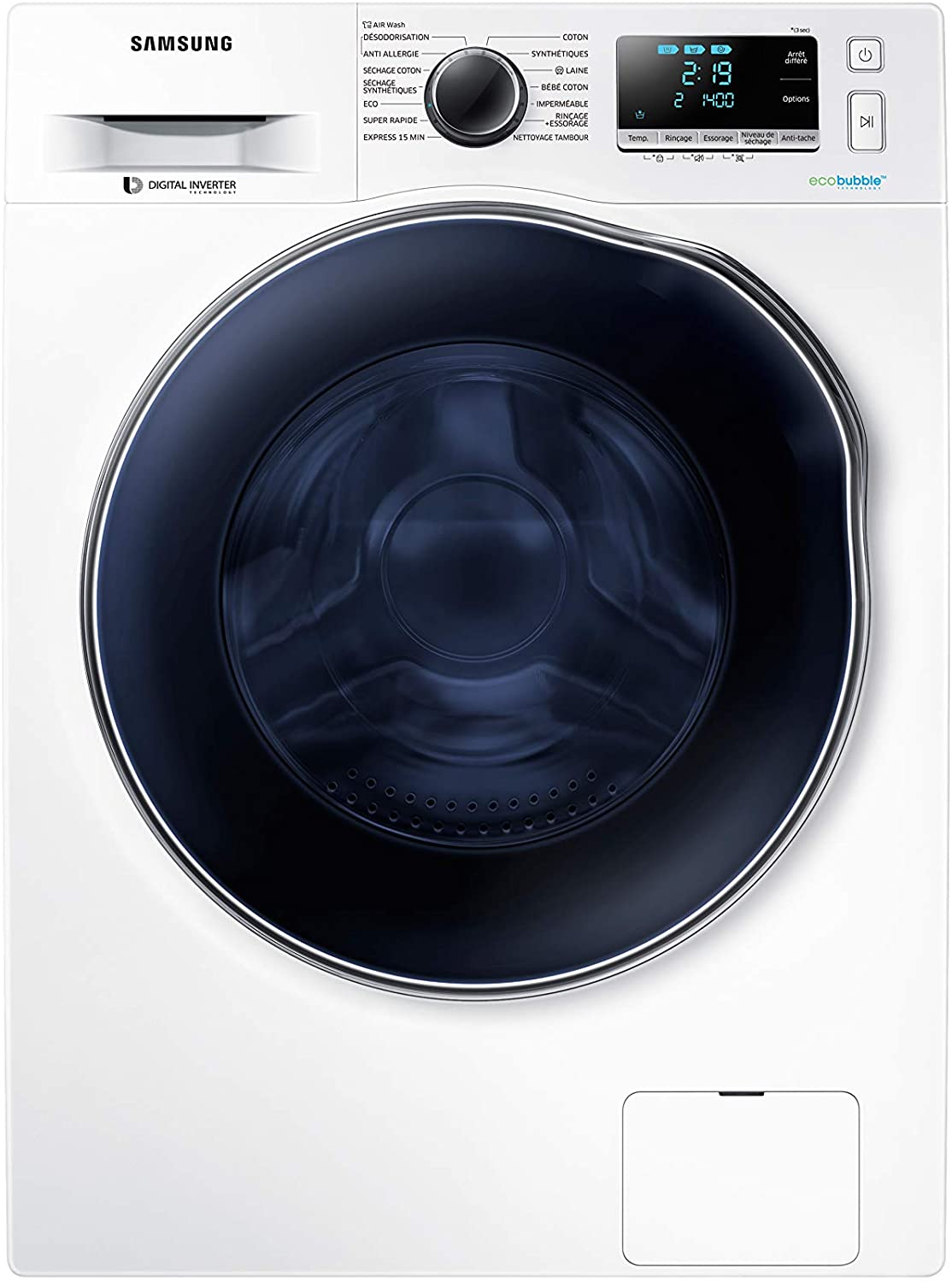 SAMSUNG 9.0 kg Fully Automatic Front Load Washing Machine (WD90J6A10AW)