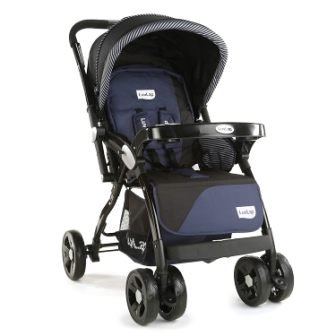 LuvLap Galaxy Stroller Pram, Extra Large Seating Space, Easy Fold, for Newborn Baby Kids, 0-3 Years