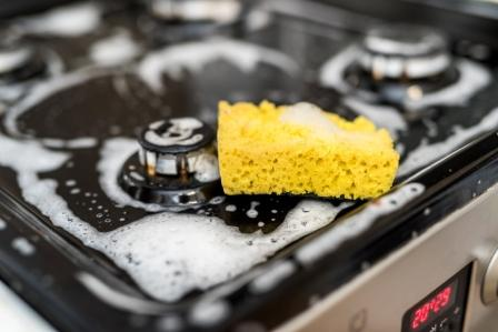 8 steps of cleaning the gas stove