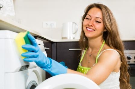 Clean the washing machine and rubber cuff